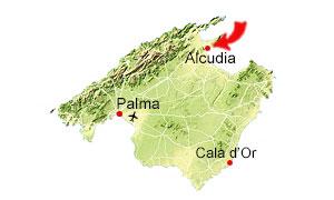 Alcudia kaart