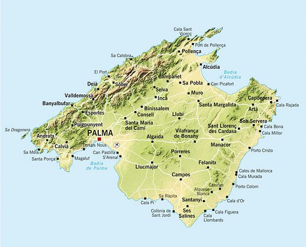 Mallorca kaart