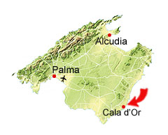 Cala Mitjana kaart