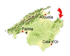 Cala sa font Celada kaart
