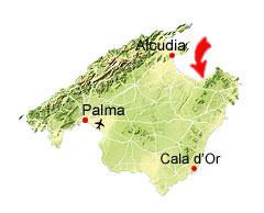 Colonia de Sant Pere kaart