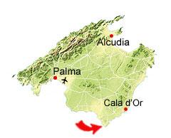 Es Caragol Kaart