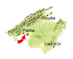 Es Molinar kaart
