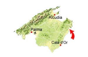 Cala Bona kaart