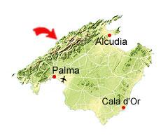Sa Calobra kaart