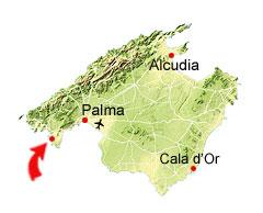 Santa Ponsa kaart