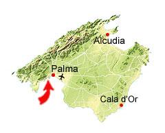 Cala Mayor kaart