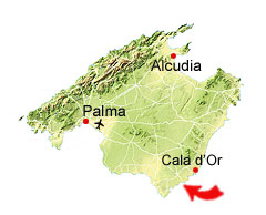 Cala Santanyi kaart