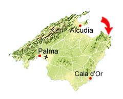 Cala Mesquida kaart