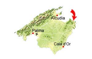 Cala Torta kaart