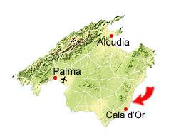 Porto Colom kaart