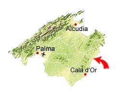 Cala Anguila kaart