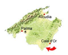 Cala s'Almunia kaart