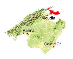 Cala Formentor kaart