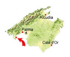 Cala Falco kaart