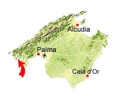 Cala Blanca kaart