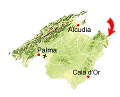 Cala Agulla kaart