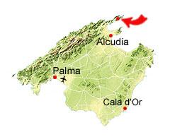 Cala Murta kaart