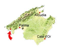 Paguera kaart