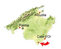 Calo des Marmols kaart