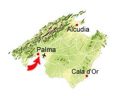 Palma de Mallorca kaart