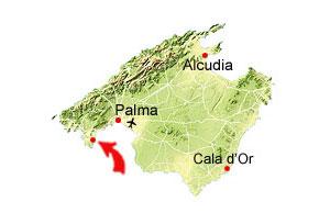Cala Vinyes kaart