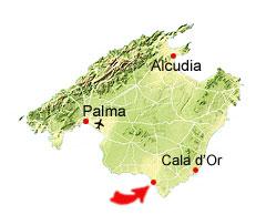Colonia Sant Jordi kaart